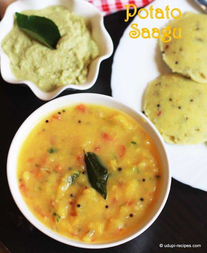 Potato Sagu | Bombay Sagu | Rava Idli, Chapati Side dish
