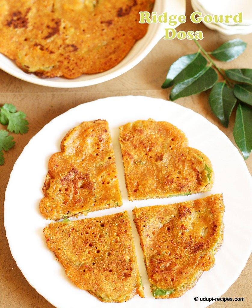Ridge Gourd Dosa Recipe