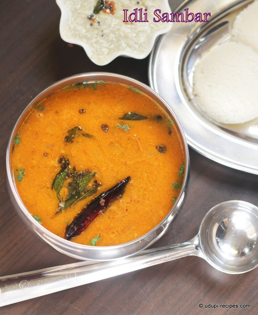 Idli Sambar | Tiffin Sambar Recipe