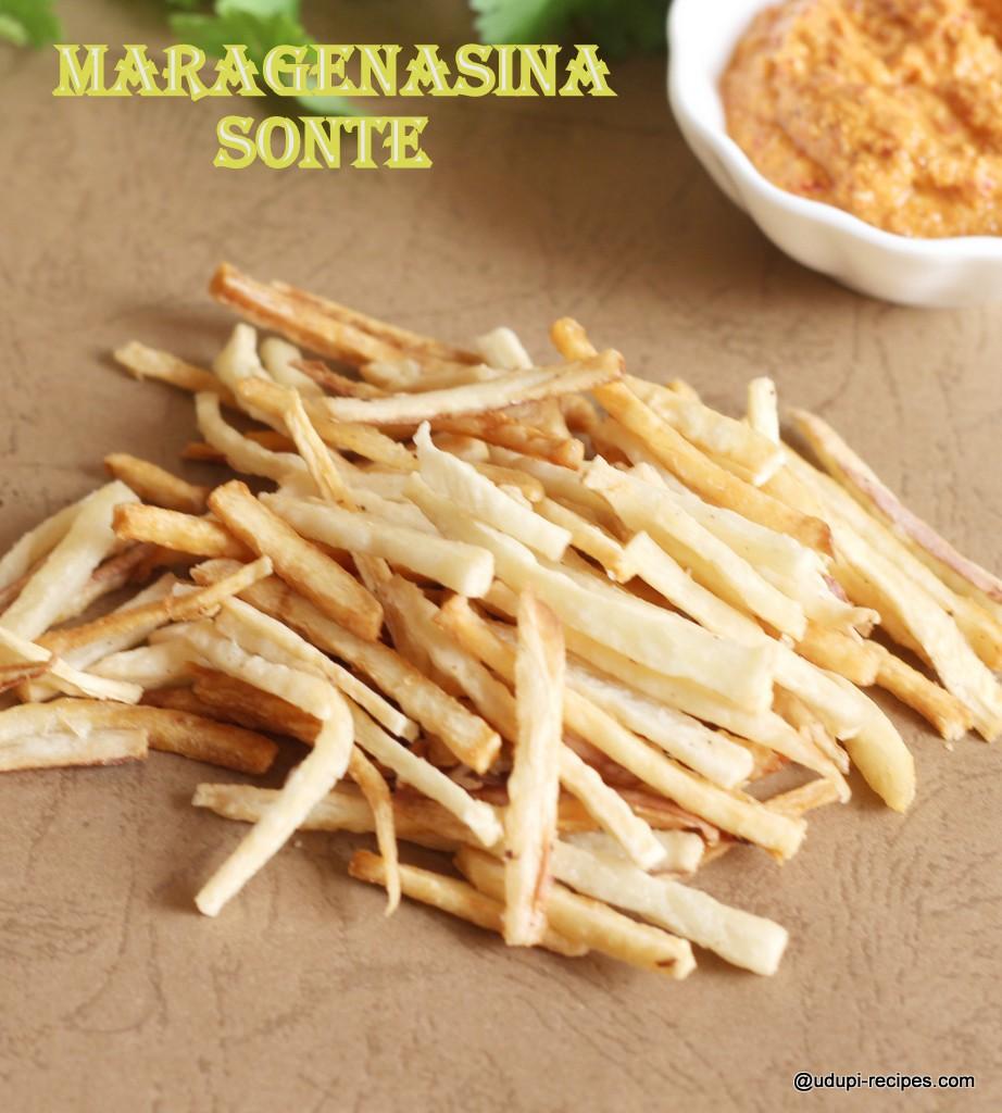Cassava Sticks | Tapioca Sticks | Maragenasina Sonte Recipe