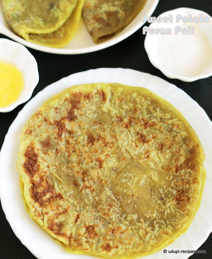 sweet potato puran poli # yugadi healthy sweet