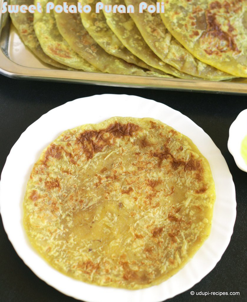 sweet potato puran poli #yugadi sweet