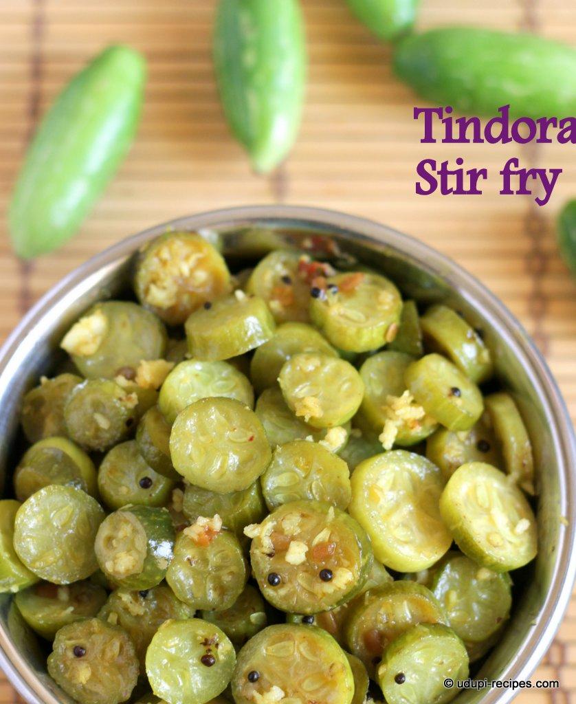 Simple tindly tindora stir fry recipe udupi recipes forumfinder Images