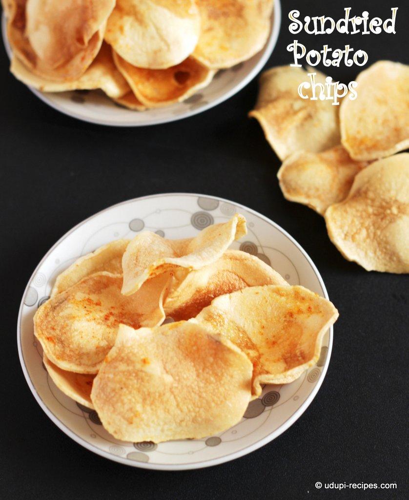 Sun dried potato chips recipe udupi recipes forumfinder Choice Image