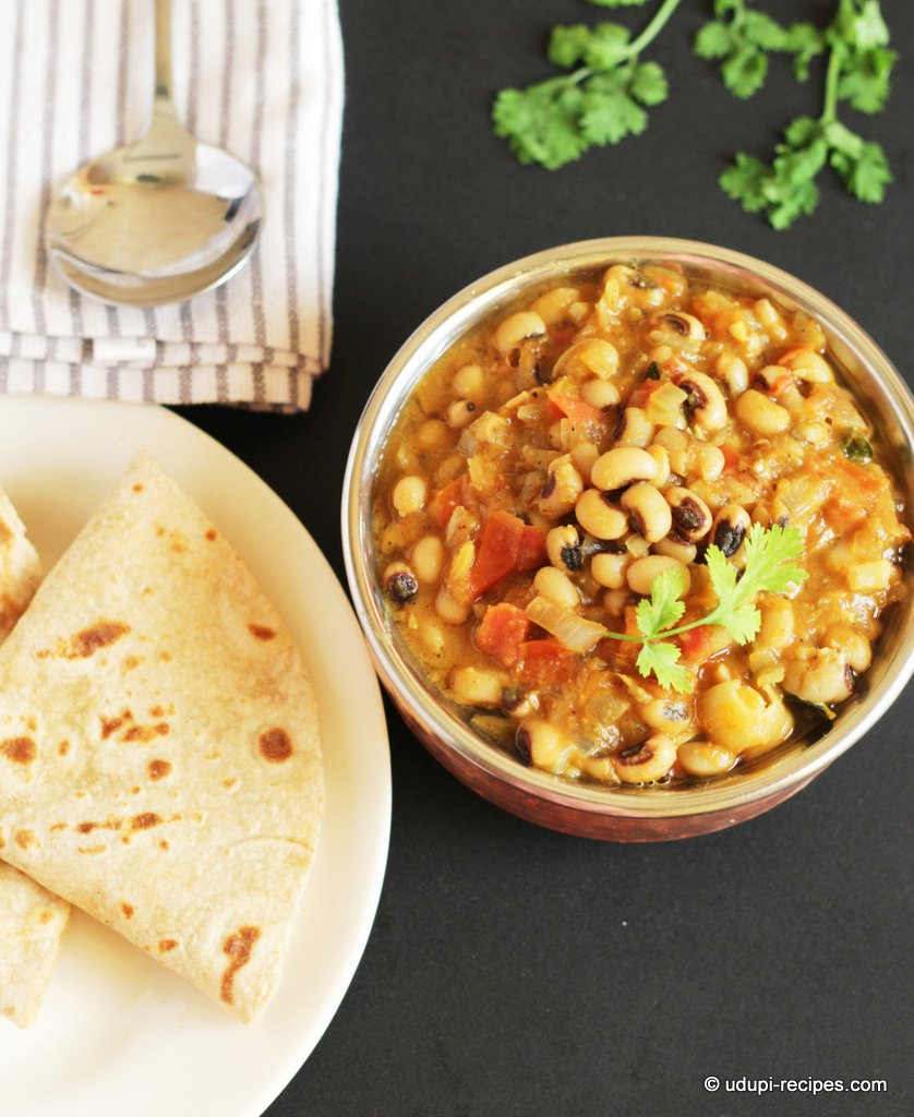 Black Eyed Peas Masala | Delicious Chapati Side Dish