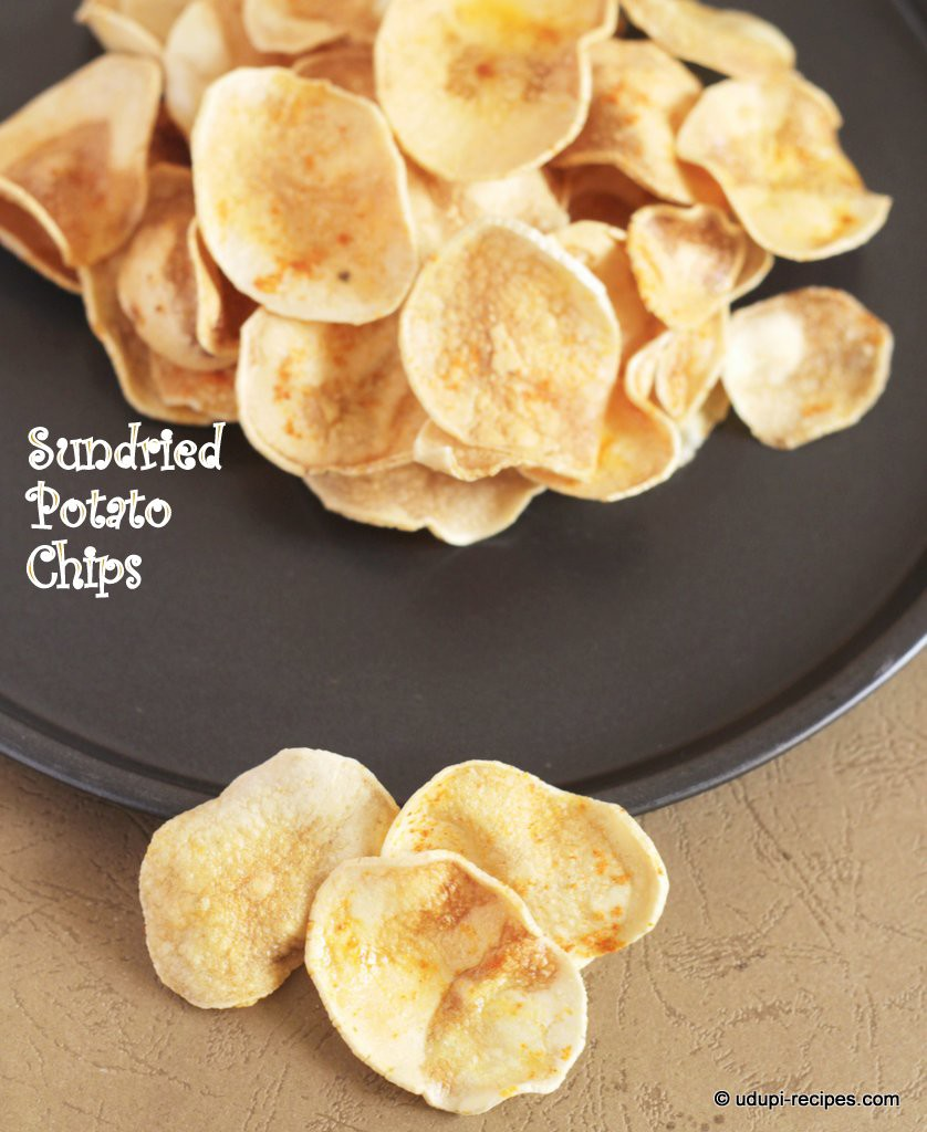 crispy sundried potato chips