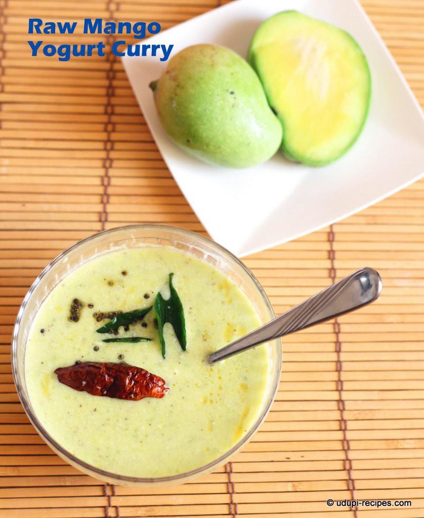 raw mango yogurt curry #easy side dish