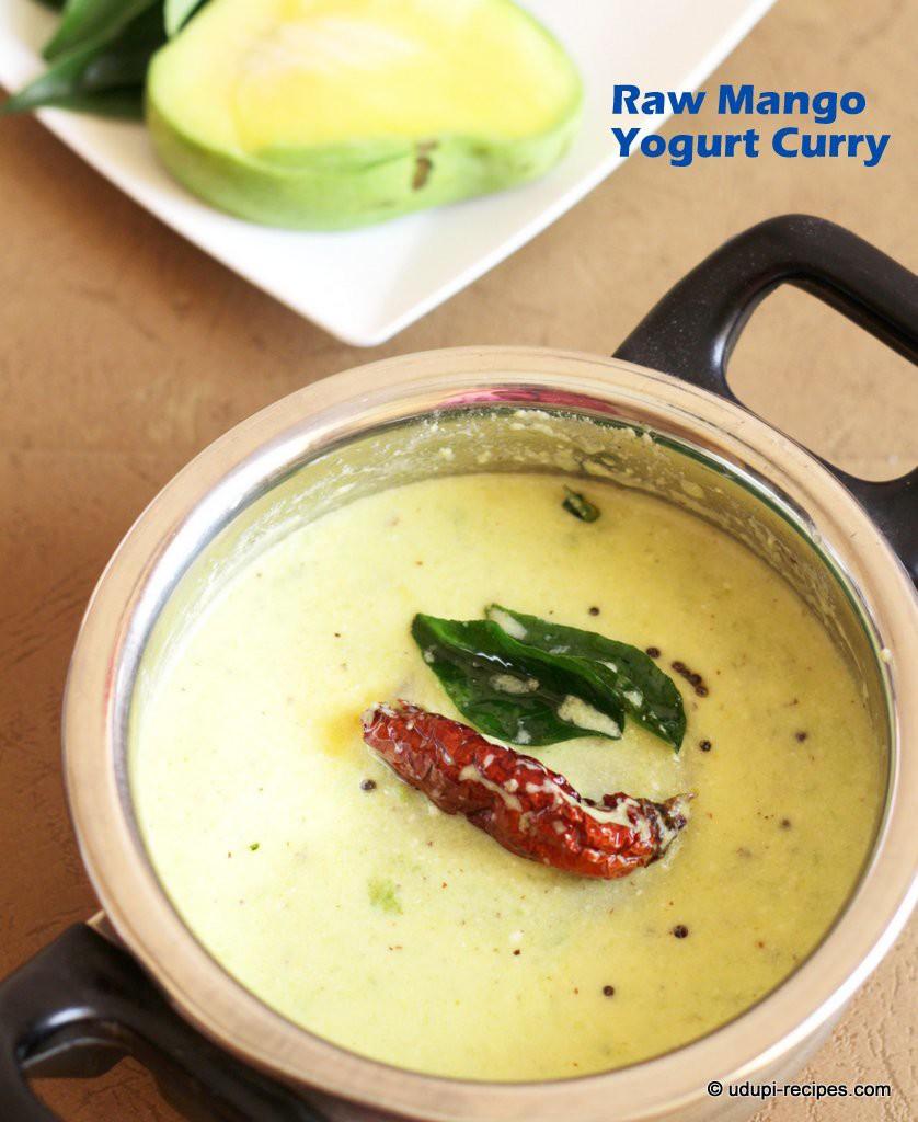 raw mango yogurt curry #summer special