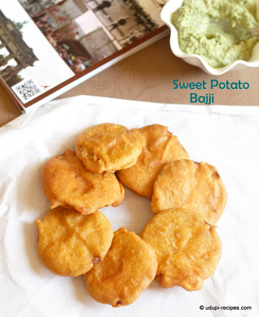 Sweet Potato Bajji | Sweet Potato Fritters Recips