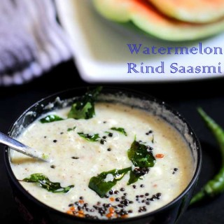 Watermelon Rind Saasmi | Watermelon Rind Yogurt Curry