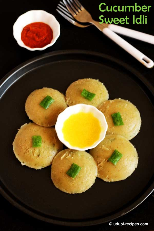 Cucumber Sweet Idli Recipe