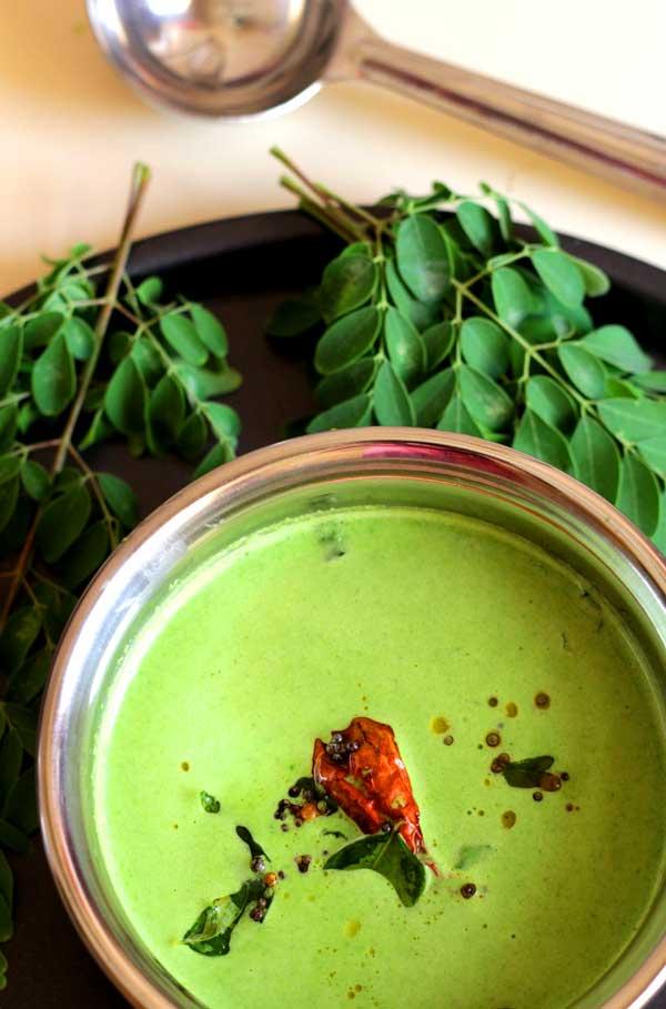 drumstick-leaves-tambli-easy-rice-sidedish