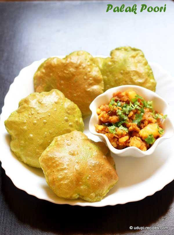 palak-puri-yummy and heatlhy
