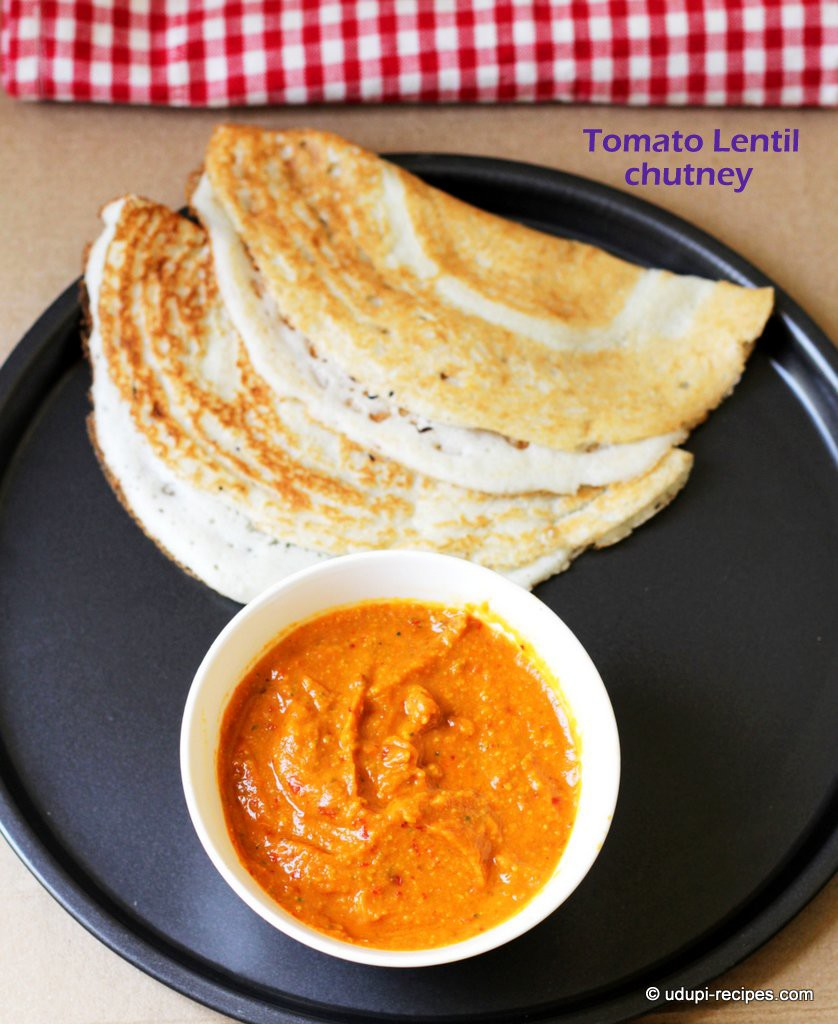 tomato lentil chutney-dosa side dish