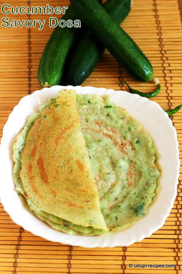 Cucumber Savory Dosa Recipe