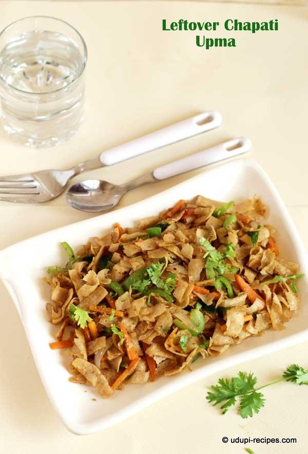 delicious leftover chapati-upma