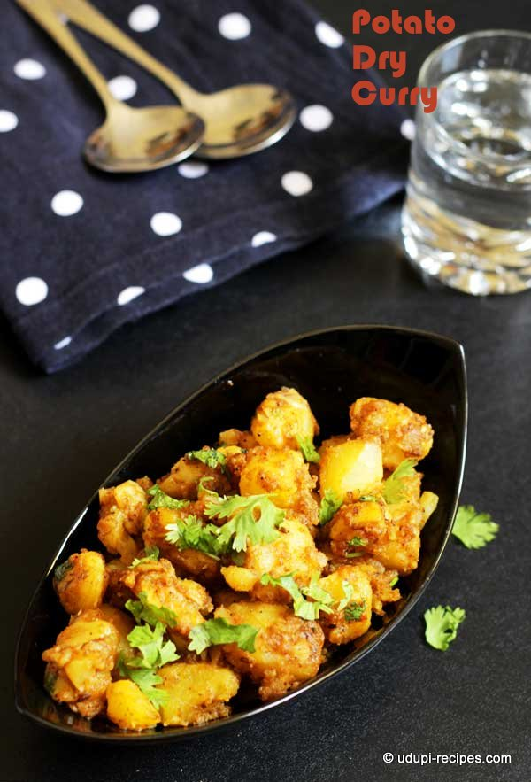 potato dry curry#easy chapati side dish