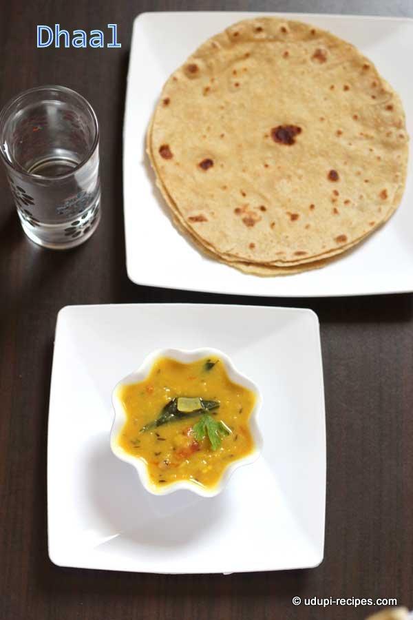 Delicious chapati sidedish dhaal