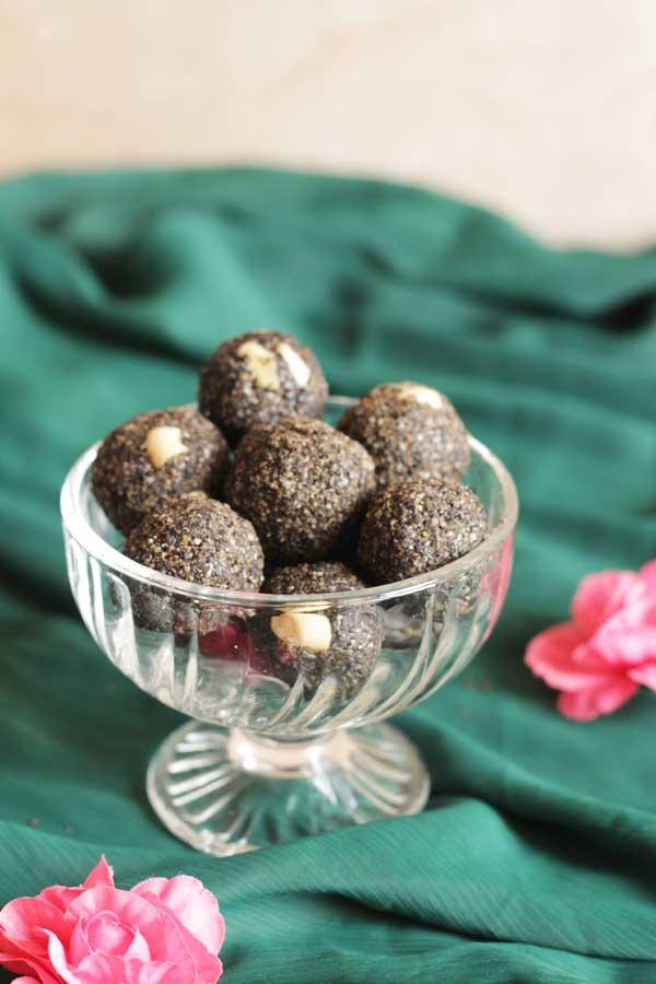 black sesame seeds laddo