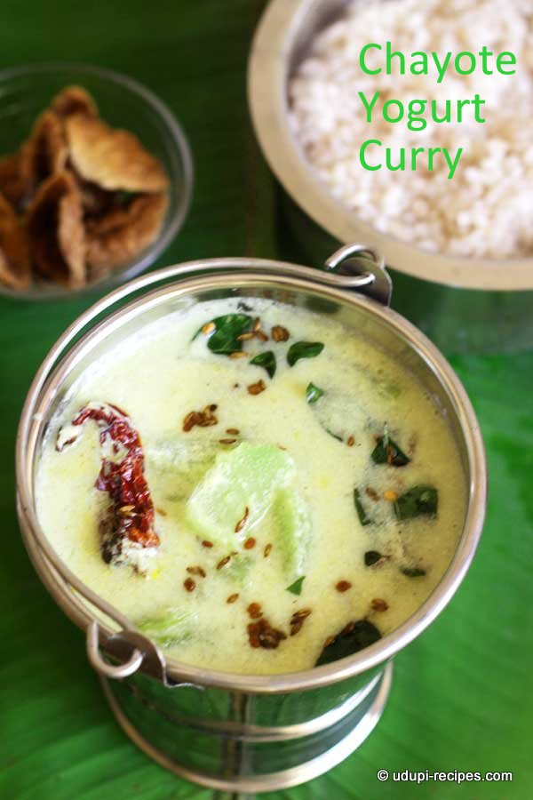 Chayote yogurt curry