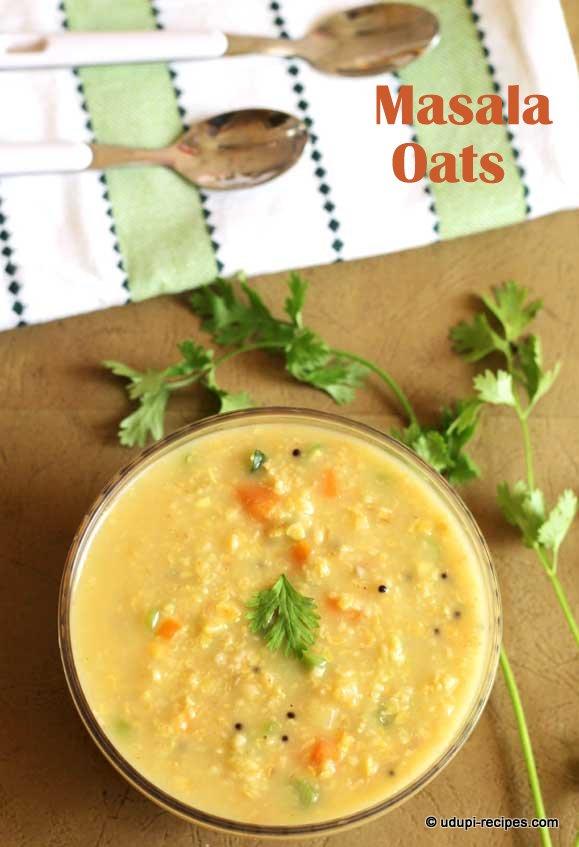 Masala oats Savory oats porridge