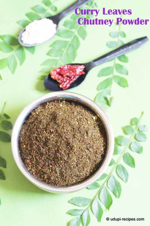 aromatic curry leaves chutney powder
