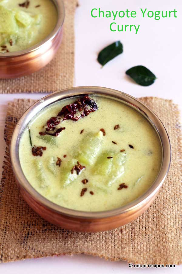 chayote yogurt curry yummy