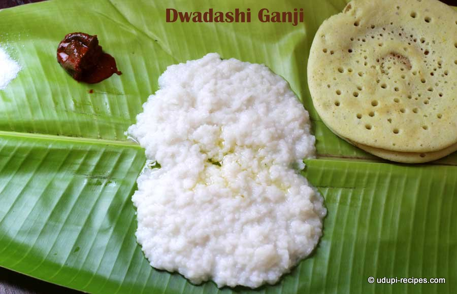 dwadashi ganji-coconut milk rice porridge