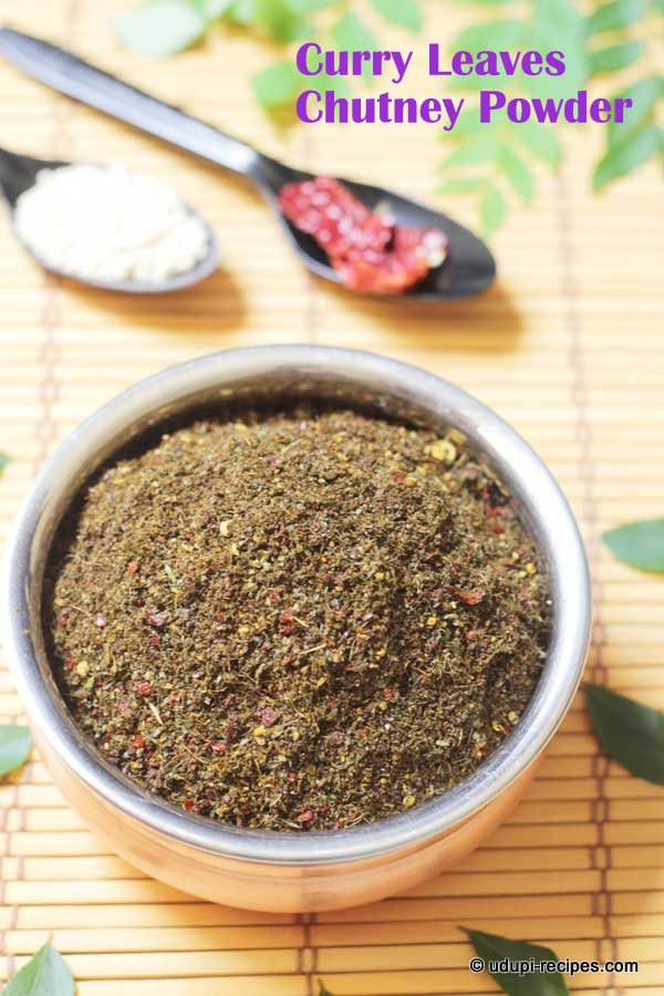 flavorful curry leaves chutney powder