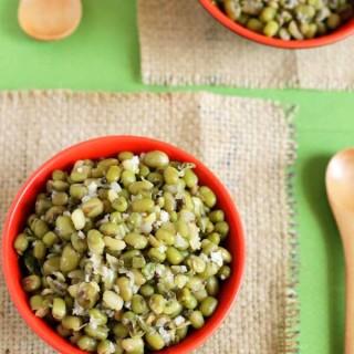 yummy green gram sundal