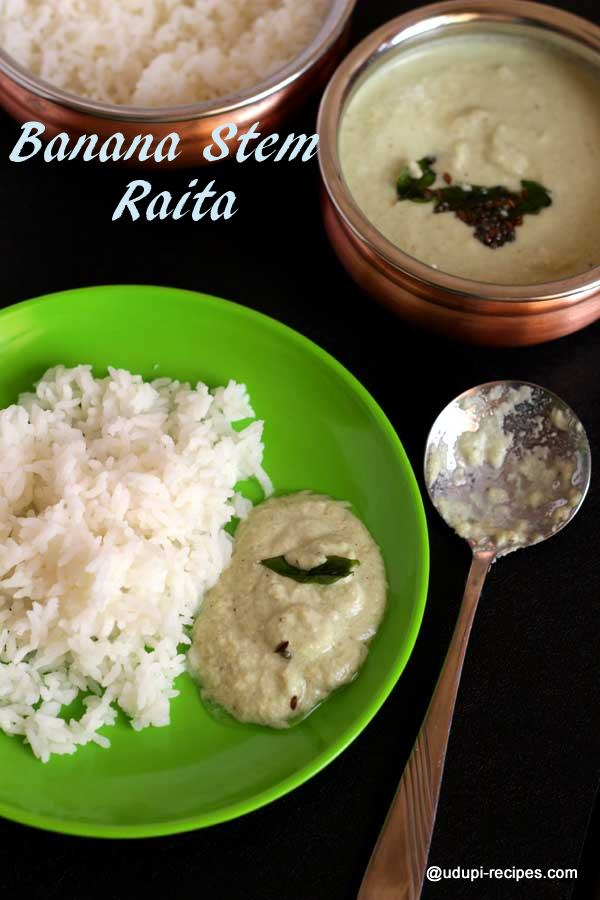 Tasty banana stem raita