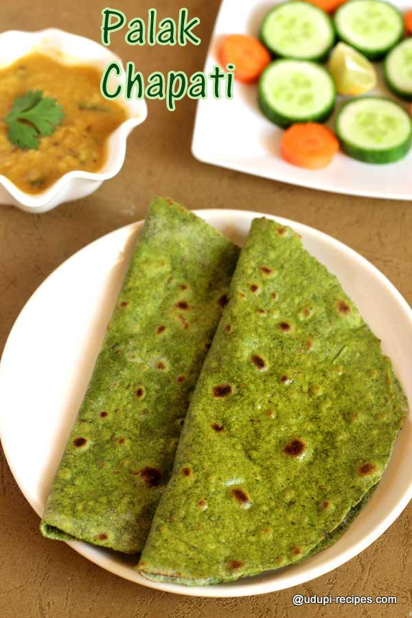 Healthy palak paratha
