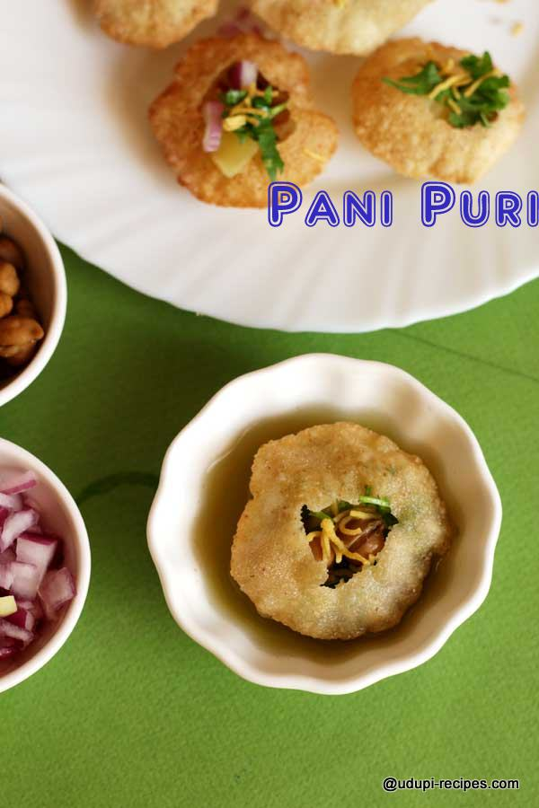 Pani puri ready to gulp over