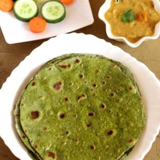 Palak Chapati | Palak Paratha Recipe