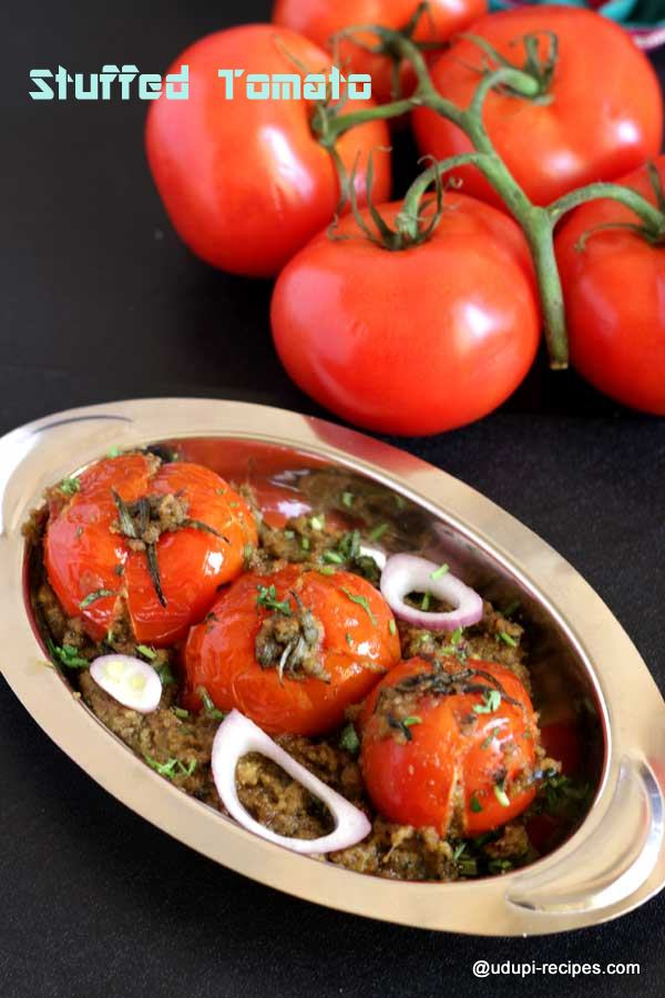 simple stuffed tomato