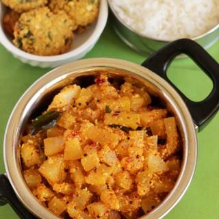 Ash Gourd Stir fry | Ash Gourd Palya in Udupi Style