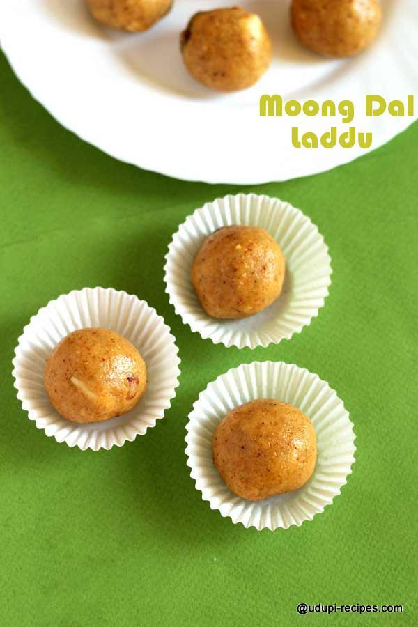 Moong dal laddu | Split green gram lentils ball Recipe