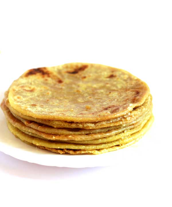 til poli-sesame seeds flat bread