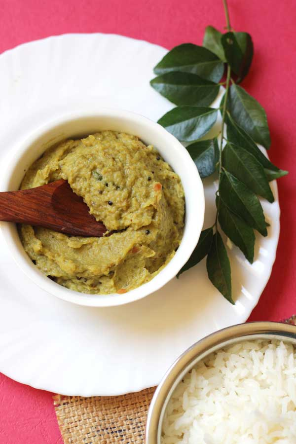 Ridge gourd chutney without coconut best combo with rice