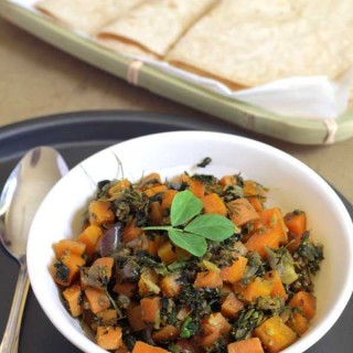 Carrot Fenugreek Leaves Stirfry