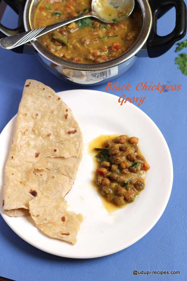 Delicious black chickpeas gravy