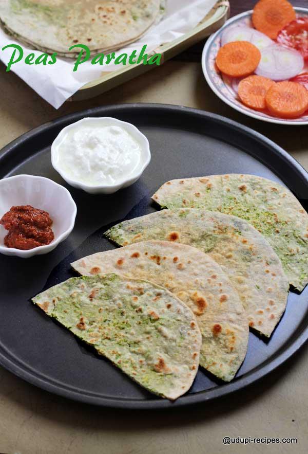 Delicious peas paratha