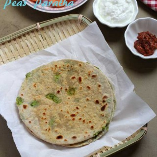 Peas Paratha | Peas Stuffed Paratha Recipe