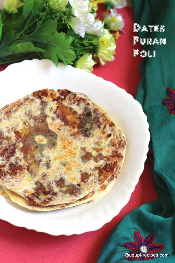 traditional sweet ppuran poli using dates
