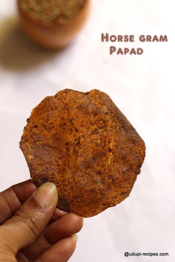 yummy horse gram papad