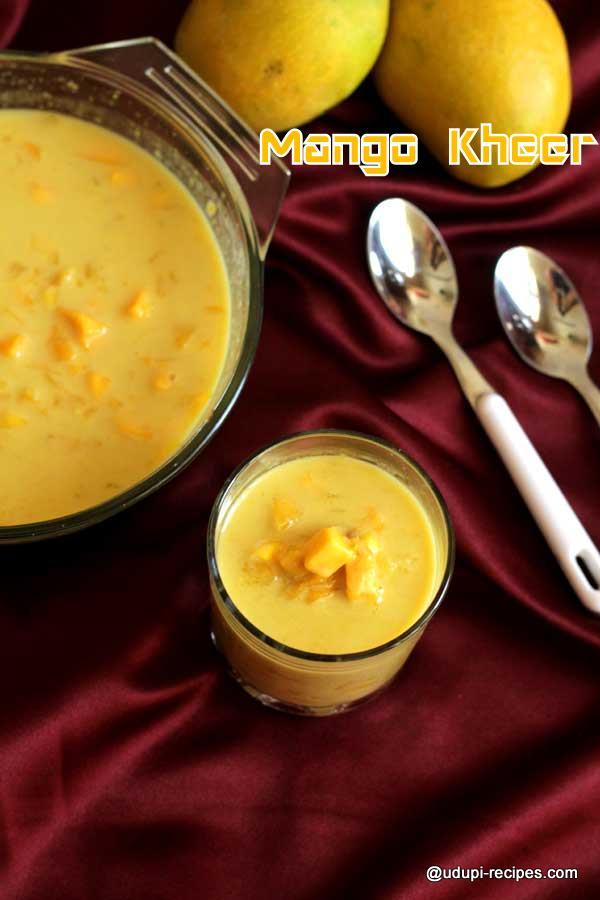 Drooling mango kheer