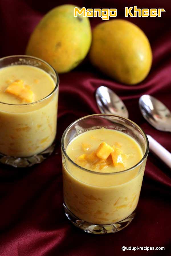 Mango kheer - No cook