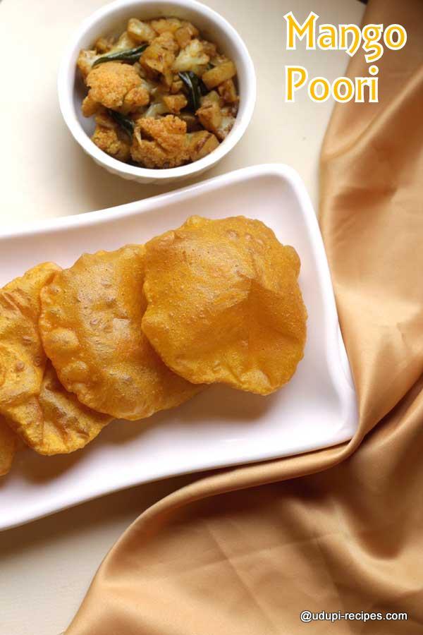 Mango poori an yummy snack