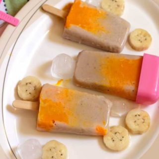 Banana Mango Swirl Popsicle Recipe