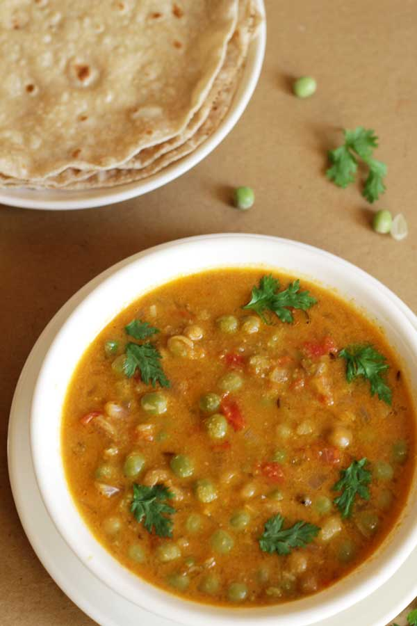 Easy chapati side dish peas kurma